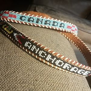 Beaded leather belt Canada Anchorage AK XS/Child's